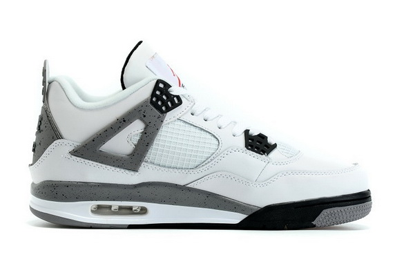 "Womens Air Jordan 4 Retro ""og"" Shoes White/wolf gray black"